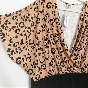 ASOS Curve Tops - NWT ASOS CURVE cheetah animal print bodysuit